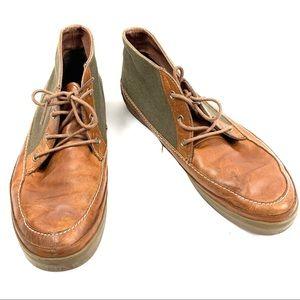 VANS Brown Leather Hi Tops Men's Size 10.5
